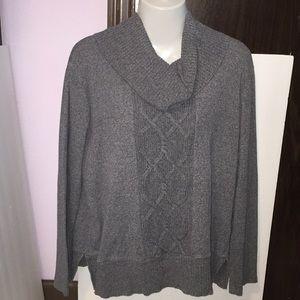 Rafaella gray cowl neck sweater. Size XL.